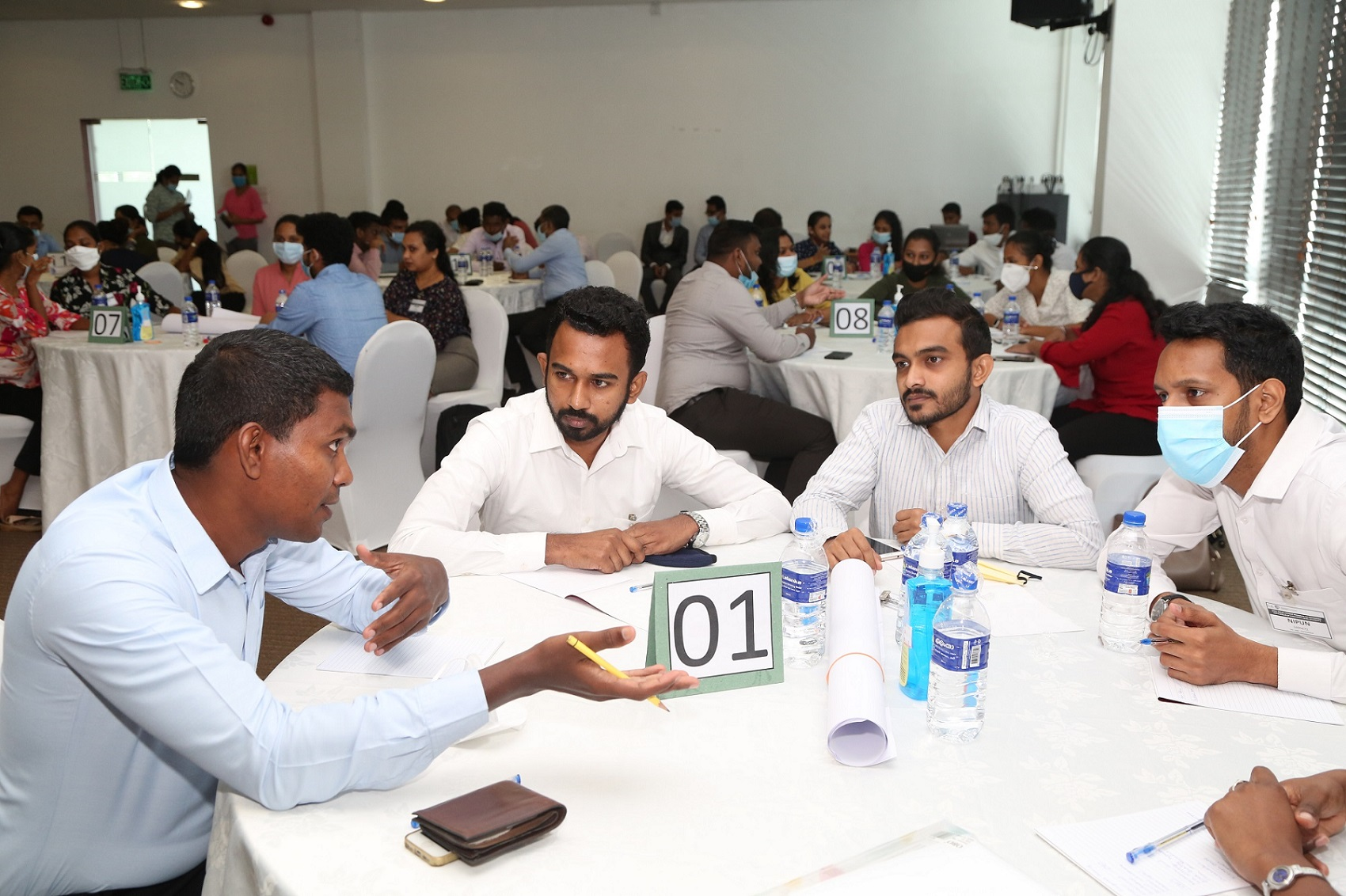 CA passed finalists taking part in an interactive activity at the skills development program organised by CA Sri Lanka.