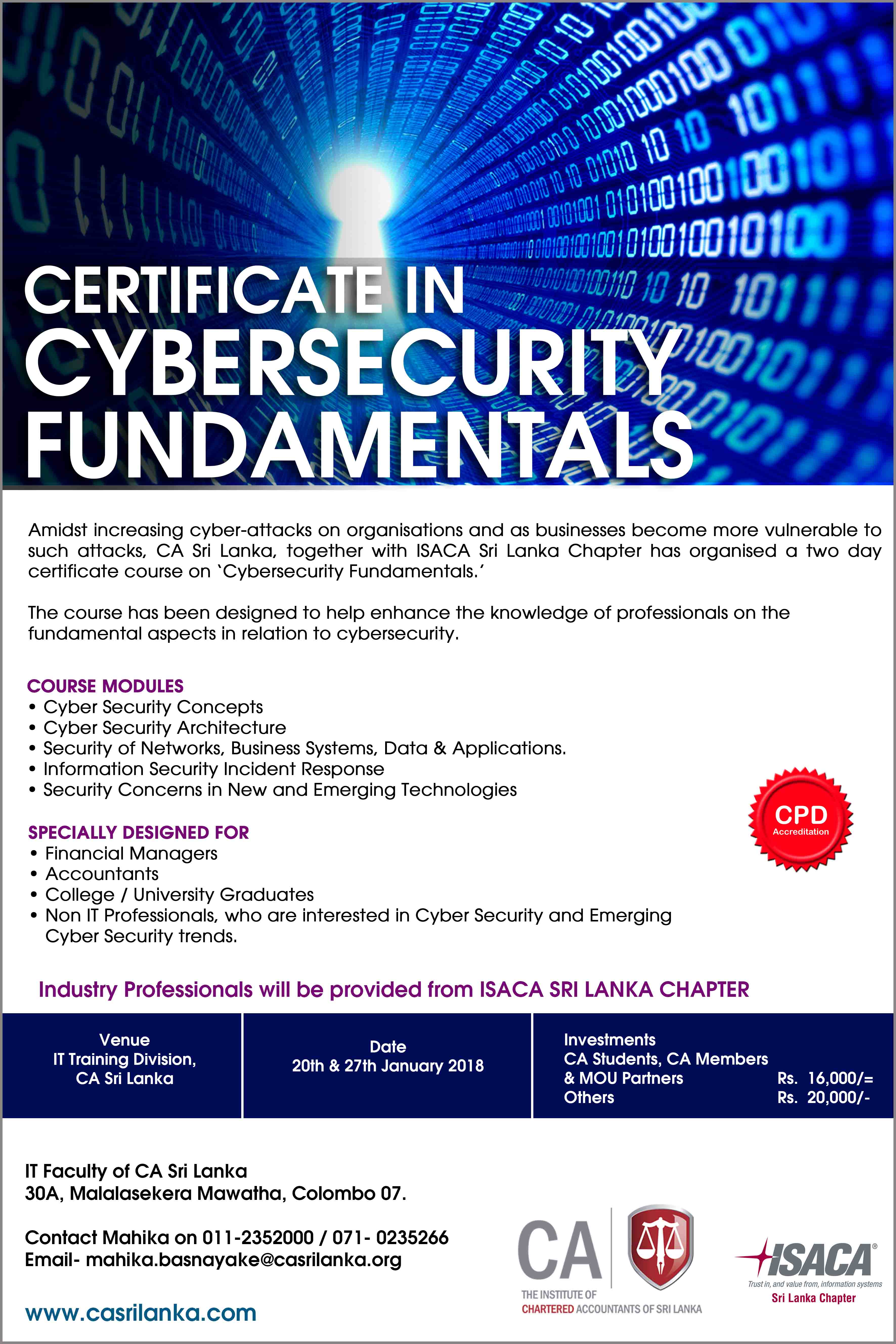 Event manager certificate in cyber security fundamentals xflitez Choice Image