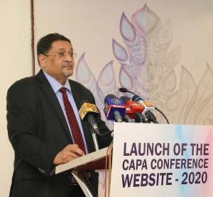 Mr. Manil Jayesinghe, President - CA Sri Lanka delivering the welcome speech