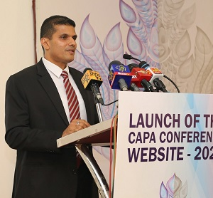 Mr. Tishan Subasinghe, Chairman - Conference Committee delivering his speech