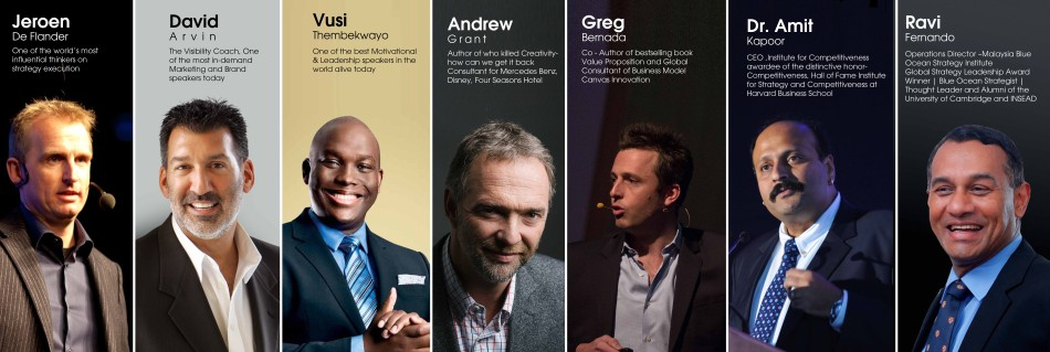 Seven internationally acclaimed speakers for the first time